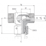 Челночный клапан трубного монтажа 24-VSSWOT