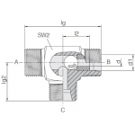 Челночный клапан трубного монтажа 24-VST