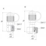 Измерительные муфты с 24° уплотнительные конусные фитинги
