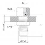 Соединения манометра для перегородок и измерительные шланги