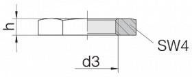 Гайка шестиграннная 24-LN-L12-S10-IM18