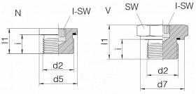 Заглушка GP-PLIH-G1/4E-C21