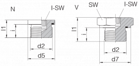 Заглушка GP-PLIH-G3/4E-C21