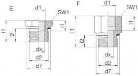 Переходник GP-SDS-G11/2E-IG1/2