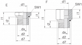 Переходник GP-SDS-G1E-IG11/4