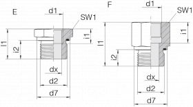 Переходник GP-SDS-G3/8E-IG1/4