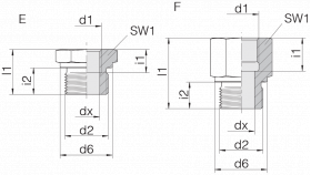 Переходник GP-SDS-G1/2B-IG3/8