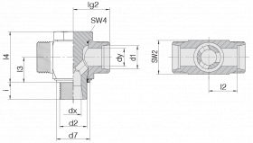 Соединение поворотное 24-BCT-S6-M12E-P