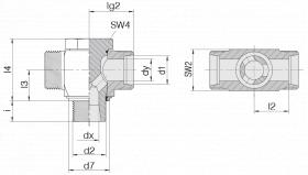 Соединение поворотное 24-BCT-L28-M33E-P