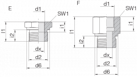 Переходник GP-SDS-G11/2B-IG3/4