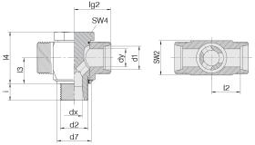 Соединение поворотное 24-BCT-L35-G11/4E-P