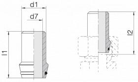 Ниппель приварной 24-WDNPSO-12x1,5-C10