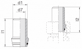 Ниппель приварной 24-WDNPSO-28x3-C10