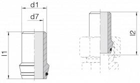 Ниппель приварной 24-WDNPSO-16x1,5-C10