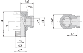 Соединение поворотное 24-BSE-L10-G1/4E