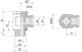 Соединение поворотное 24-BSE-L22-G3/4E