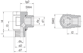 Соединение поворотное 24-BCE-L8-M12E