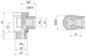 Соединение поворотное 24-BCE-L10-M14E