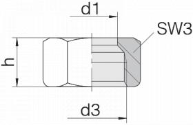 Гайка 24-N-S16
