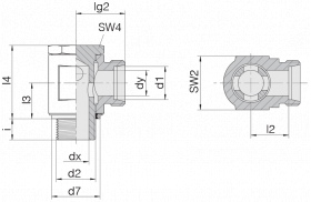 Соединение поворотное 24-BSE-S8-M14E
