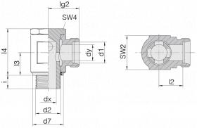 Соединение поворотное 24-BSE-S10-M16E