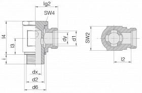 Соединение поворотное 24-BSE-L6-G1/4B