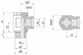 Соединение поворотное 24-BSE-S10-M16B