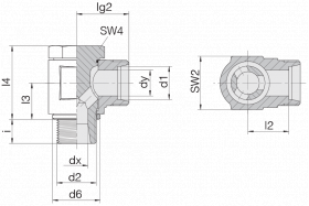 Соединение поворотное 24-BCE-S6-G1/4B