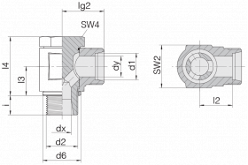 Соединение поворотное 24-BCE-L8-M12B