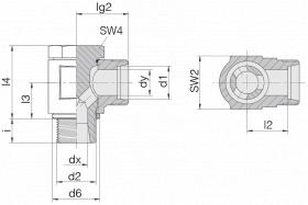 Соединение поворотное 24-BCE-L12-G3/8B