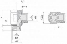 Соединение поворотное 24-BCE-L6-M10B