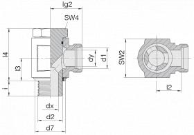 Соединение поворотное 24-BEE-L8-M12E