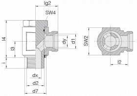 Соединение поворотное 24-BEE-L8-M14E