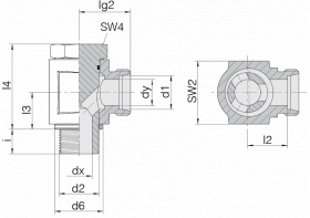 Соединение поворотное 24-BEE-L8-M12B