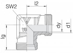 Соединение трубное 24-E-L8-P