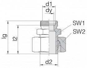 Соединение регулируемое 24-SWS-L28-S25