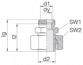Соединение регулируемое 24-SWS-S12-L12