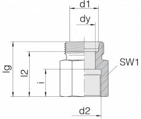 Соединение переходное 24-S-S12-IG3/8