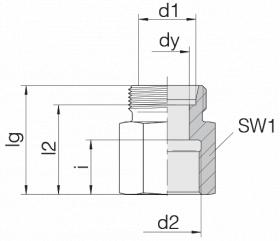 Соединение переходное 24-S-L8-IG1/2