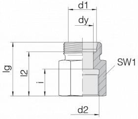 Соединение переходное 24-S-L15-IG3/8