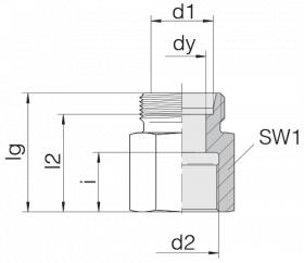 Соединение переходное 24-S-L12-IM16