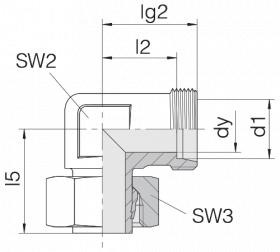 Соединение регулируемое 24-SWE-L8