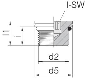 Заглушка GP-PLIH-M18F-C21