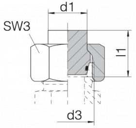 Заглушка 24-PLOC-L6