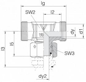 Соединение с гайкой 24-SWOT-L6-P