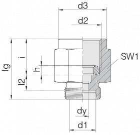 Соединение для манометра 24-PGS-L12-IG1/4B
