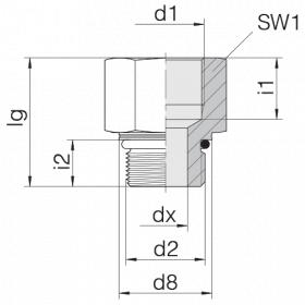Переходник GP-SDS-M12F-IM12