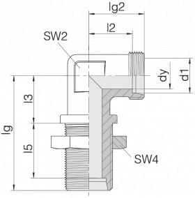 Соединение переборочное 24-BHELN-S38