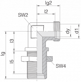 Соединение переборочное 24-BHELN-L18