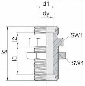 Соединение переборочное 24-BHSLN-S38